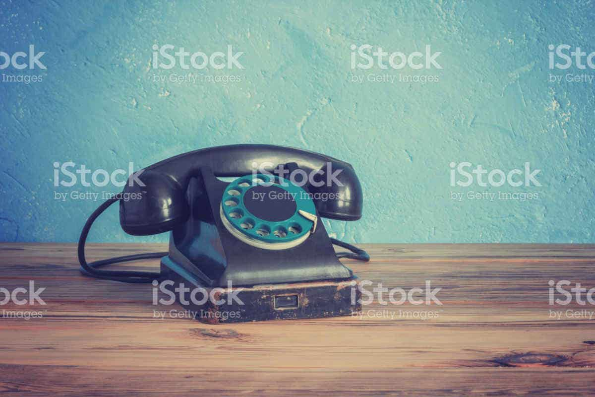 Vintage Photography of Telephone
