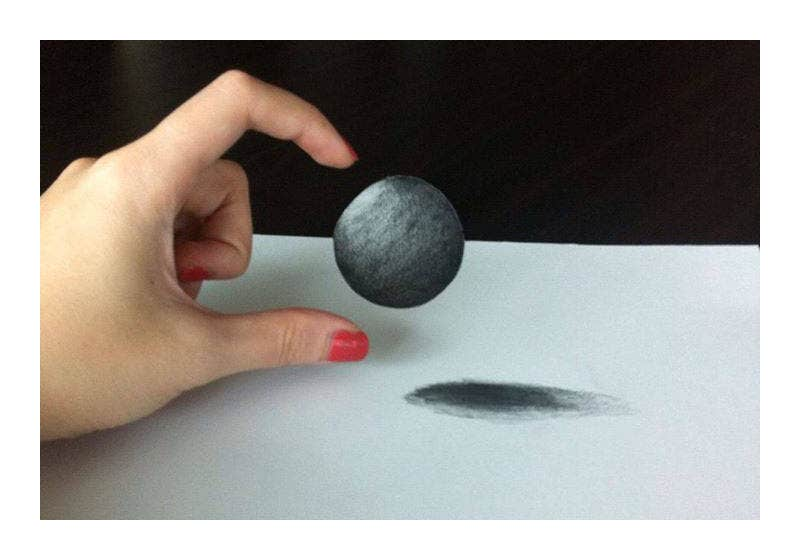 3D Illusion Drawing Illustrationc
