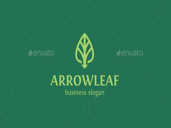Arrow Leaf Logo Design