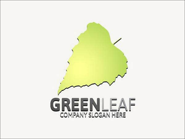 editable leaf logo