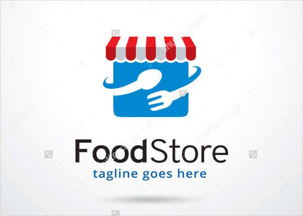 Food Store Logo Template