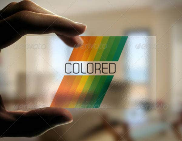 Stripe Transparent Business Card