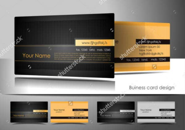 Standard Business Cards with Stripes