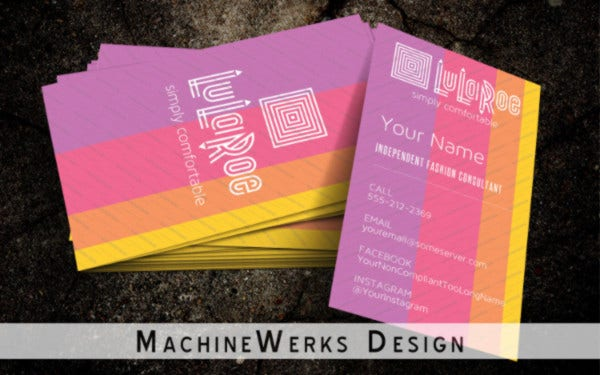 Customizable Business Cards with Stripes