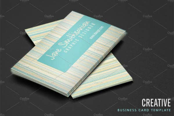 creative business cards with stripes