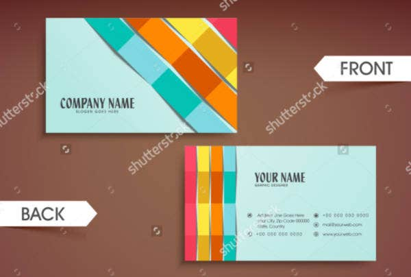 colorful abstract paper stripes card