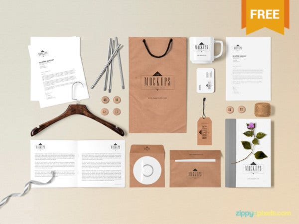 Free Scene Builder Stationery Mock-Up