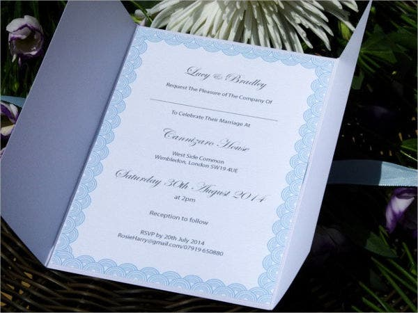 Art Deco Wedding Invitation Gatefold Style