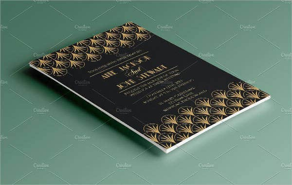 Geometric Art Deco Wedding Invitation