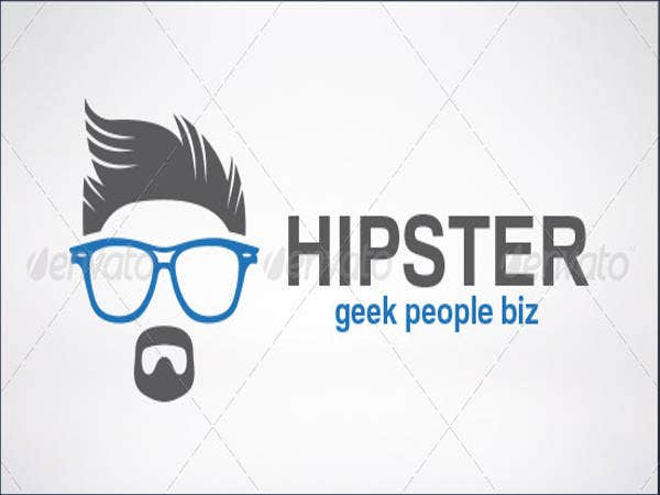 Single Colour Hipster Logo