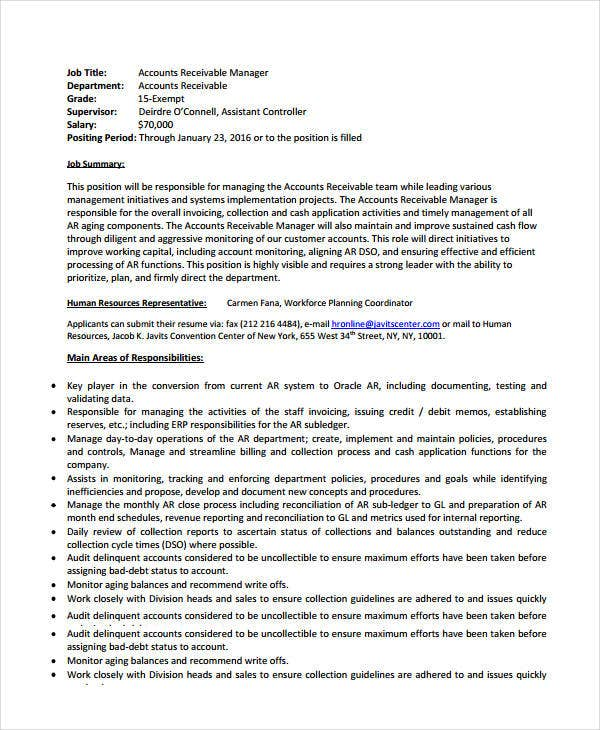 Account Manager Resumes - 8+ Free PDF, Word Documents Download ...