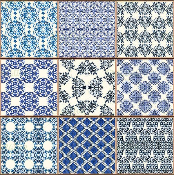 ceramic tiles pattern set