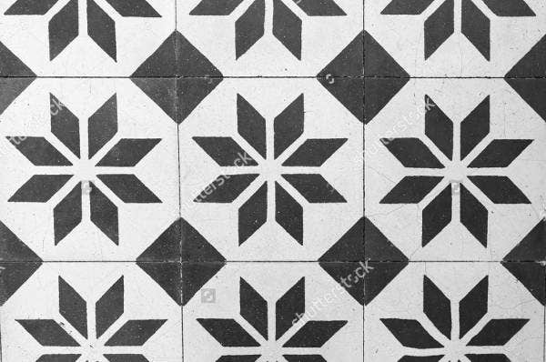 vintage black and white floor tile pattern