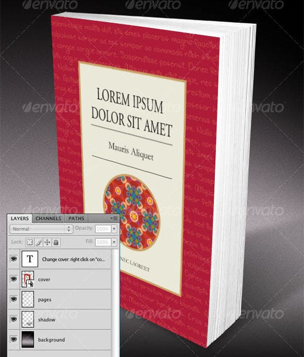 Smart Objects Book Cover Template
