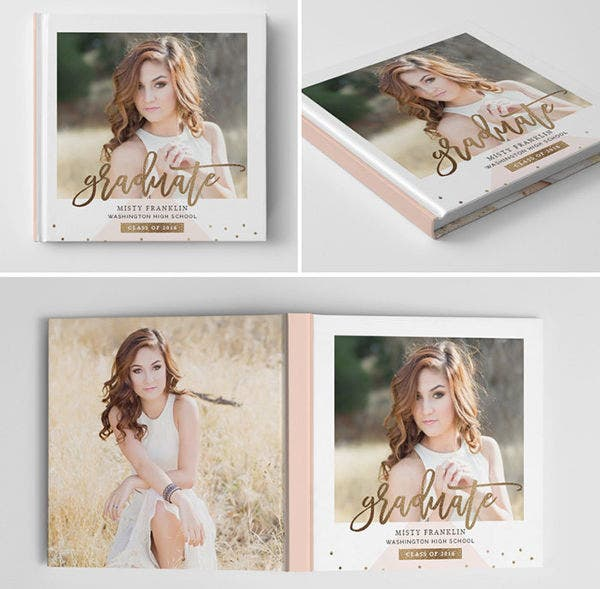 Senior Photo Book Cover Template