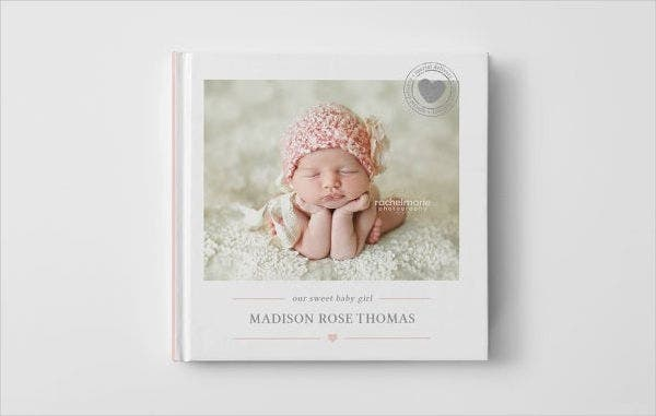 Newborn Baby Photo Book Cover Template