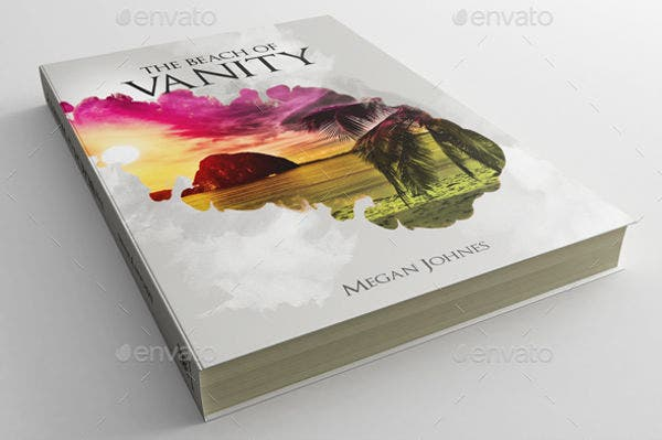 book cover psd template
