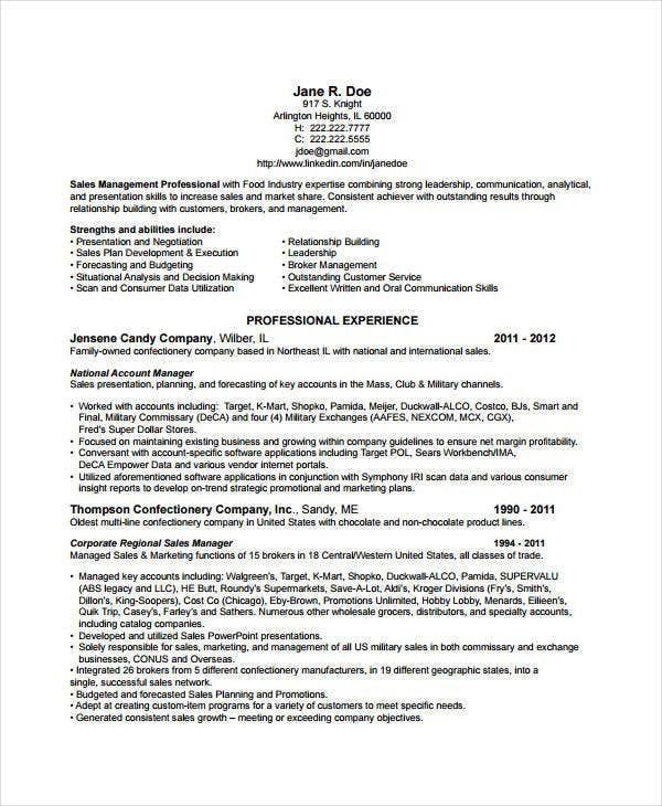 Marketing Manager Resume Example Resume Resource  Sales Management Resume