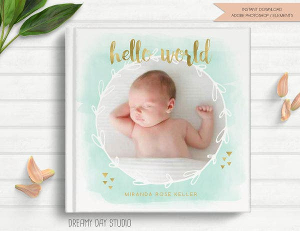 Baby Photo Book Cover Template