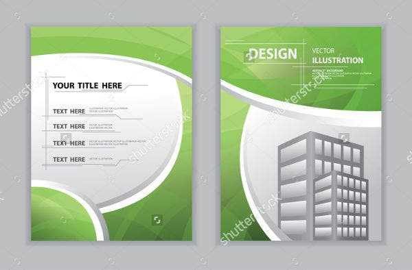 Abstract Green Curve Book Cover Template
