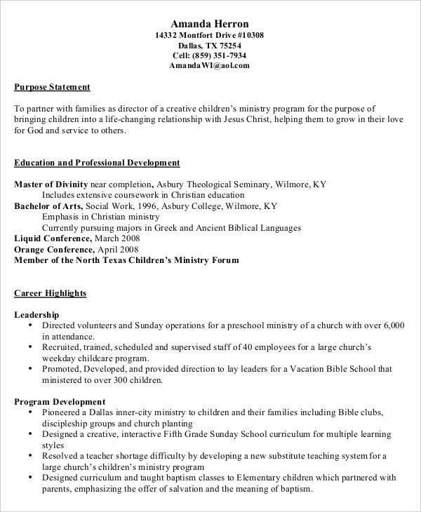 resume director chrisitian school example reasonschecks