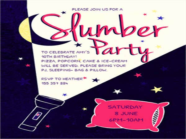 17 Slumber Party Invitations Free PSD AI Vector EPS Format – Free Printable Slumber Party Invitation Templates