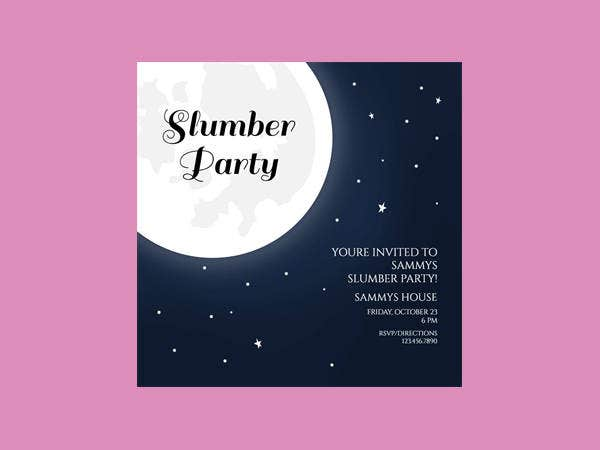 16 Slumber Party Invitation Designs Templates Psd Ai Free