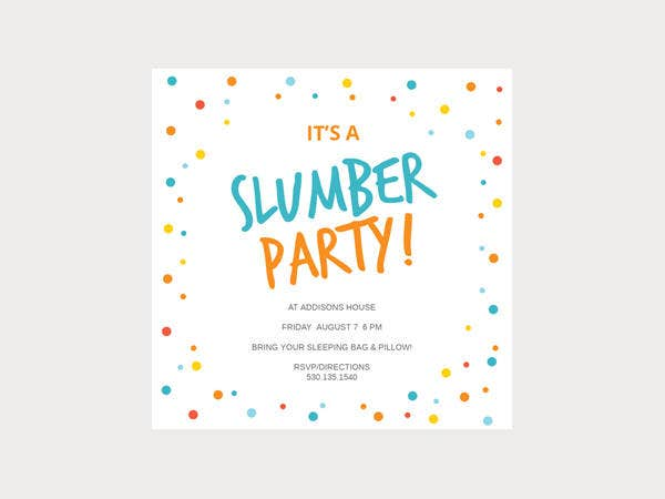 17 Slumber Party Invitations Free PSD AI Vector EPS Format