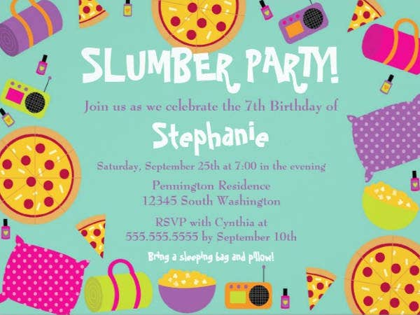 slumber-party-invitation-template