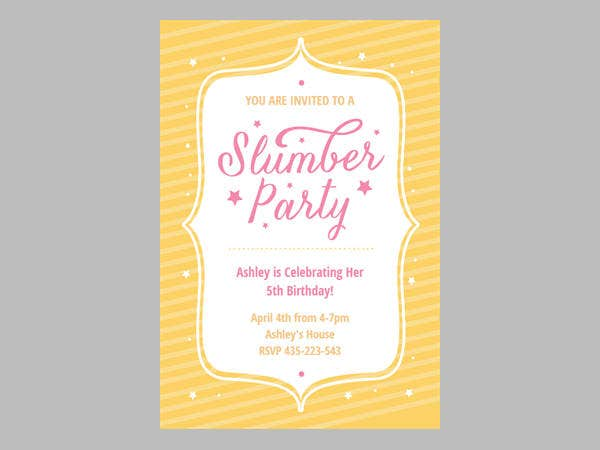 party-stars-slumber-party-invitations