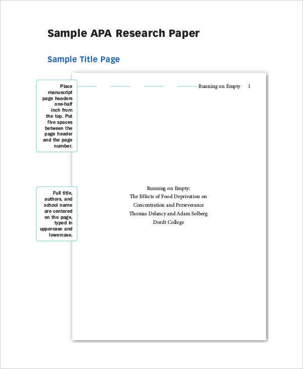 Research Paper Abstract Template