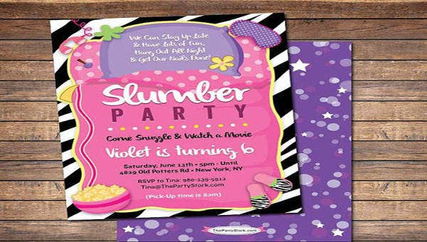 16 Slumber Party Invitation Designs Templates Psd Ai