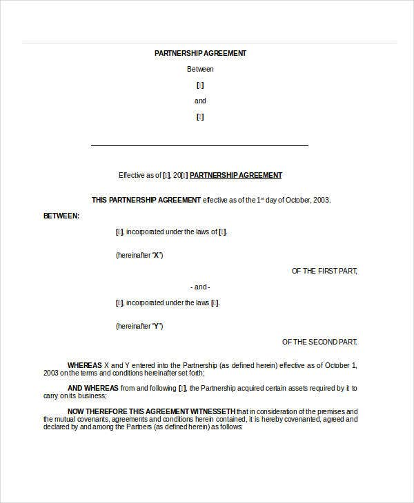 General Partnership Agreement 9 Free Pdf Word Documents Download