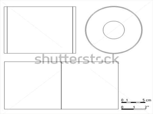 Blank Cd Or Dvd Cover Template