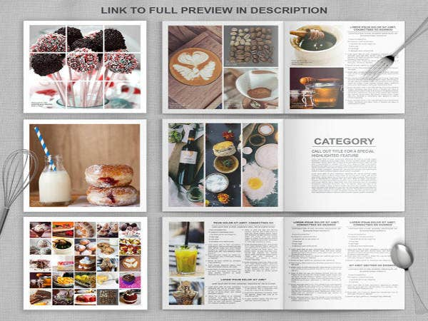 12 cookbook template free psd ai vector eps format download