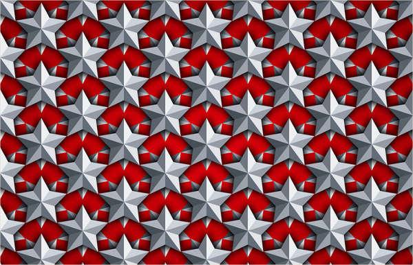 3d stars seamless pattern