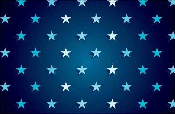 Dark Blue Star Vector pattern
