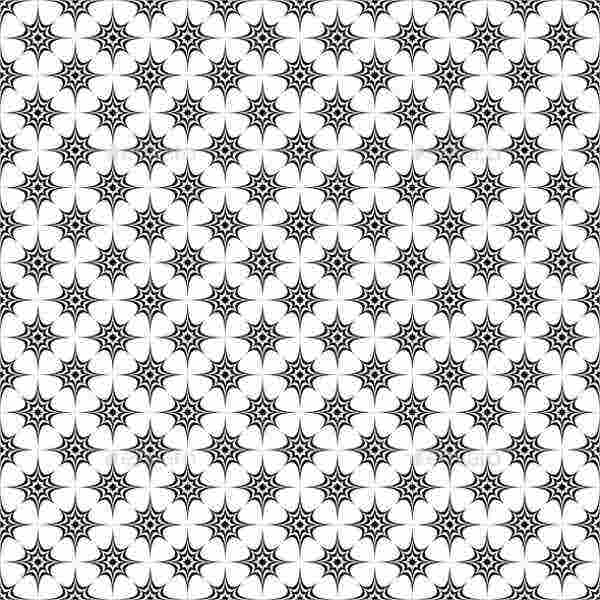 Monochrome Star Patterns