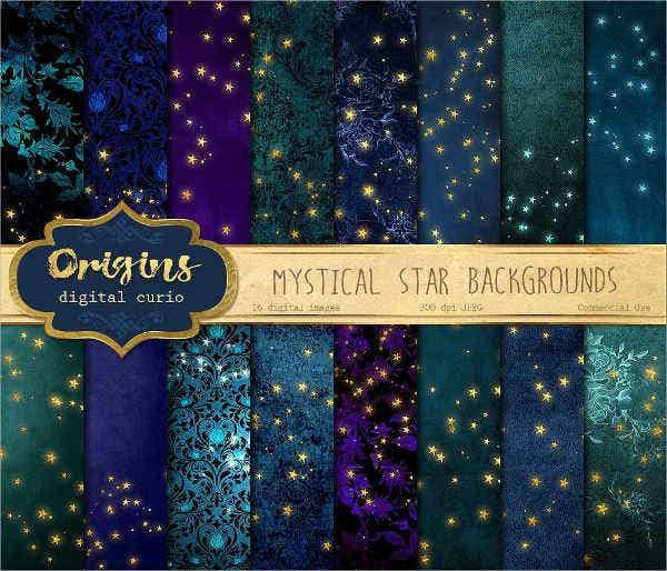 Mystical Star Background Pattern