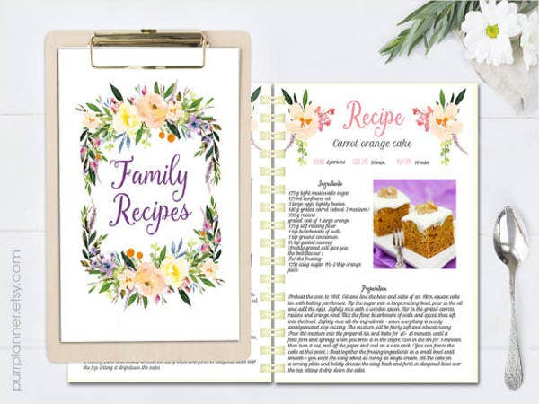editable-recipes-cokkbook-template