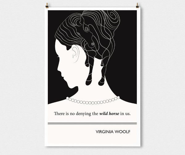Virginia Woolf Minimalist Poster