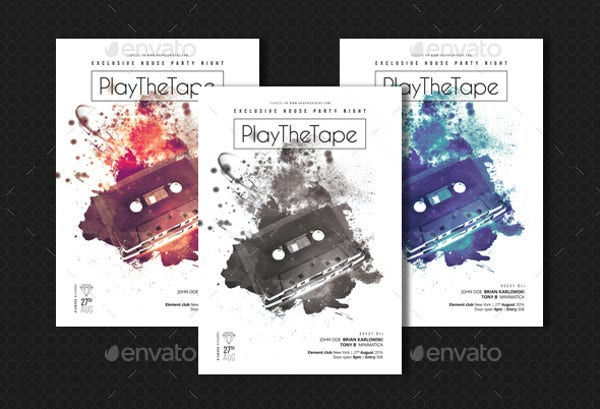 play the tape minimalist posters