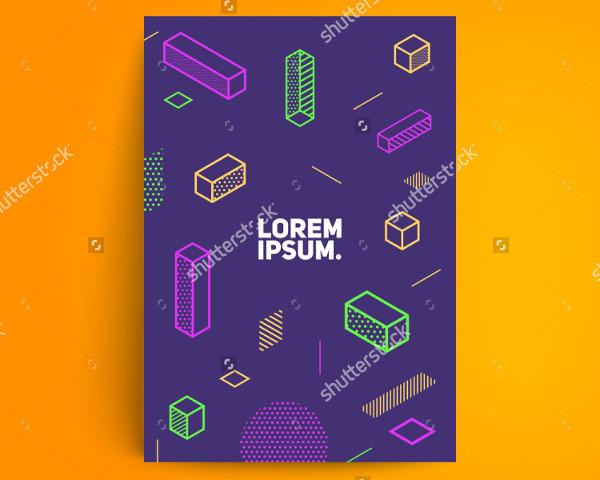 minimalistic design poster template