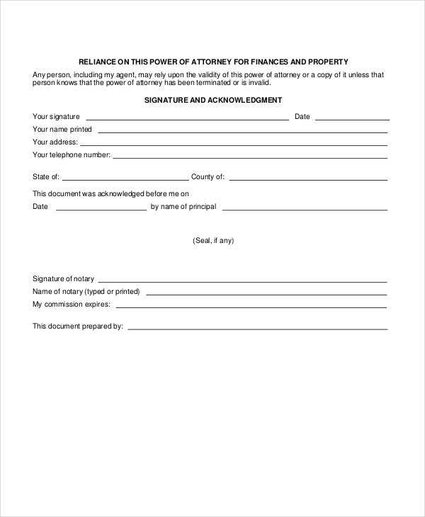 Power Of Attorney Forms  Free  Premium Templates