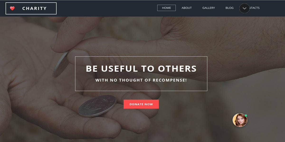 motocms template for charity