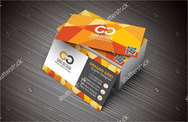 3D Creative Business Card Mockup