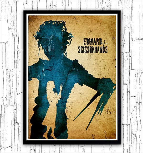 Edward Scissorhands Minimalist Poster