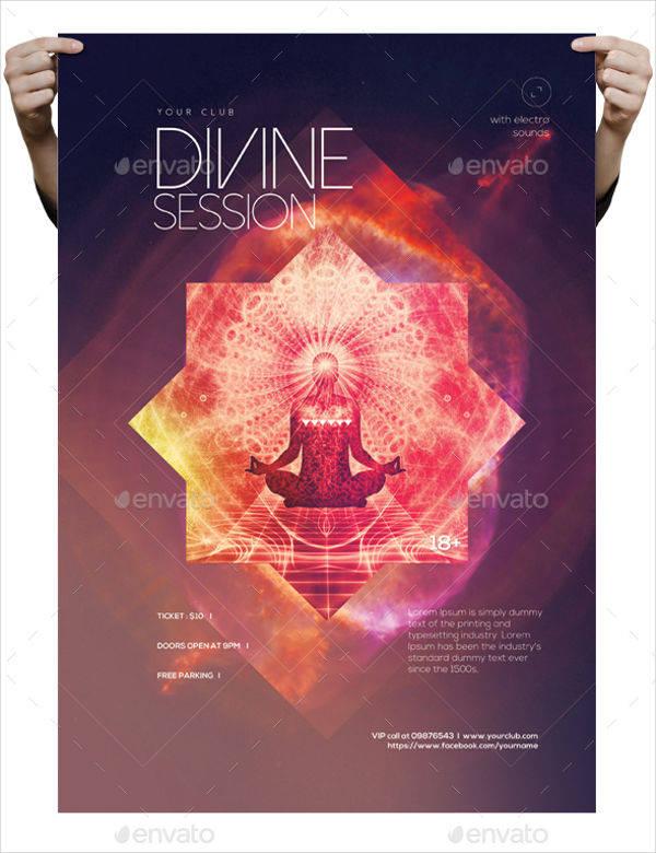 Minimalistic Divine Session Poster