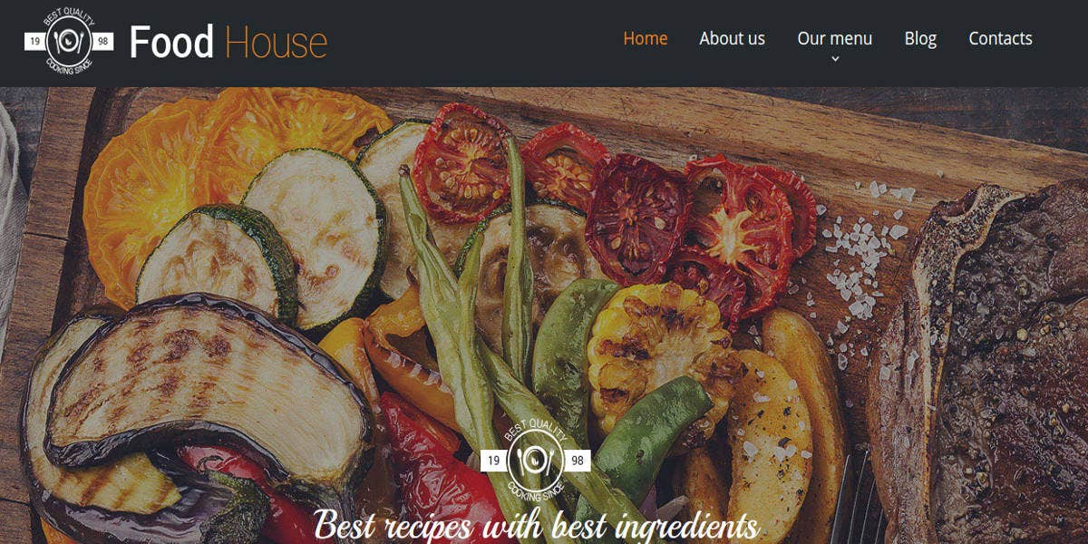 cafe restaurant moto cms template