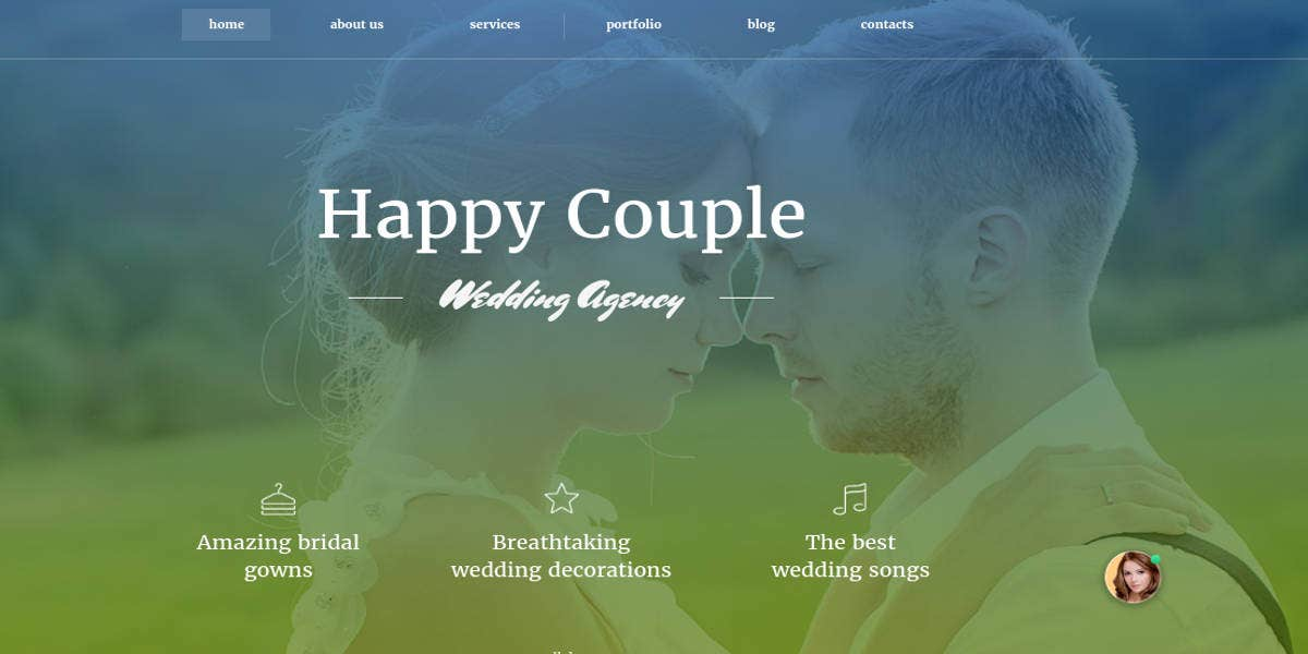 wedding moto cms template